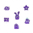 Conjunto de 6 Mini Bonecas - Hanazuki - Humores - Roxos Corajosos - Hasbro