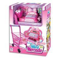 Mini Mercado com Carrinho de Compras e Caixa Registradora Rosa - Fenix