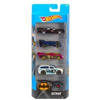 Conjunto de Carros Mattel Hot Wheels Batman - 5 Unidades