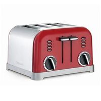 Torradeira Para 4 Fatias Red Metalic Cpt - 180mrbr Cuisinart 110V