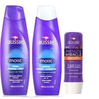 Aussie Kit Shampoo Moist + Condicionador Moist + 3 Miracle Smooth