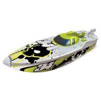 Micro Boats Blister - Lancha Motorizada Branco e Verde 34 - DTC 4112