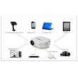 mini projetor uc30 portatil USB hdmi ate 100 polegadas