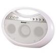 Som Portátil Amvox AMC - 1400 com Bluetooth Entrada USB Rádio FM Branco 10W