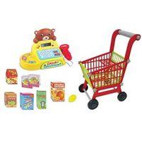 Mini Mercado com Carrinho de Compras e Caixa Registradora Colorida - Fenix
