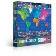 Quebra - Cabeça 500 Peças - Mapas - Mundo