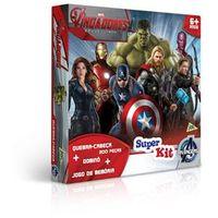 Super Kit com Quebra - Cabeça - Dominó - Jogo da Memória - Os Vingadores Era de Ultron