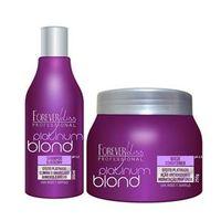 Forever Liss Platinum Blond Kit Duo Efeito Platinado 2 Produtos
