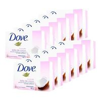 Kit 12 Sabonete Dove Delicious Care Leite de Côco 90g