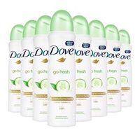 Kit 8 Desodorante Aerosol Dove Go Fresh Pepino 150ml