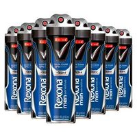 Kit 8 Desodorante Aerosol Rexona Men Sensitive Skin Care 150ml