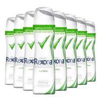 Kit 8 Desodorante Rexona Comprimido Feminino Aerosol Bamboo 56g