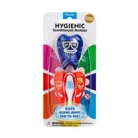 Porta Escova Dental Curaprox Flipper Harry&Flora Azul e Vermelho