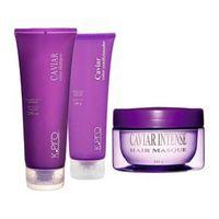 Shampoo + Cond + Máscara Intense 165g Caviar Color K. pro