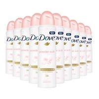 Kit 10 Desodorante Aerosol Dove Powder Soft 150ml
