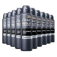 Kit 10 Desodorante Dove Men Care Invisible Dry Masculino Aerosol 89g