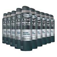 Kit 10 Desodorante Dove Men Care Silver Control Masculino Aerosol 89g