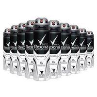 Kit 10 Desodorante Rexona Invisible Masculino Aerosol 90g