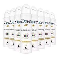 Kit 8 Desodorante Aerosol Dove Invisible Dry Feminino 150ml