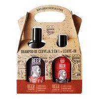 Kit QOD Barber Shop Beer Shampoo 3 em 1 + Leave - In 140ml
