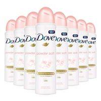 Kit 8 Desodorante Aerosol Dove Powder Soft 150ml