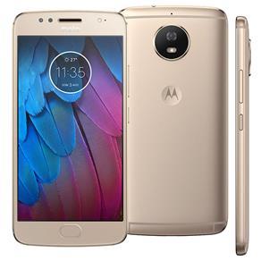 Smartphone Motorola Moto G5s XT1792 Ouro com 32GB, Tela de 5.2 ´ ´, Dual Chip, Android 7.1, 4G, Câmera 16MP, Processador Octa -