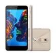Smartphone Quantum MÜV PRO Dourado com 32GB, Dual Chip, Tela HD TrueView de 5.5 ´, Câmera 16MP, 4G, Wi - Fi, Android 6.0 e Proce