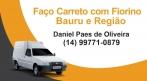 FAÇO PEQUENO FRETE EM BAURU E REGIÃO (FIORINO FURGÃO)