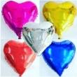 Balão Coração Metalizados 10 Unidades PARA AR COMUM OU GAS HELIO