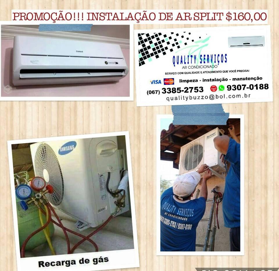 Instalação de ar split em promoção na Quality
