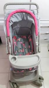 Carrinho de Bebê Galzerano Pegasus - Cinza/Rosa