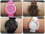 Kit Com 04 Relógios Feminino Geneva Oferta Coloridos Top