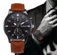 Relógio Masculino Couro Luxo Barato + Caixa