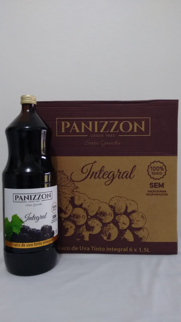Suco De Uva Tinto Integral Natural (caixa 6 Unid 1,5 Litros)