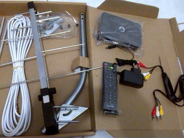 Kit Conversor/Antena Digital Positivo