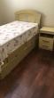 Móveis para quarto completo: cama, guarda roupas, criado mudo e estante