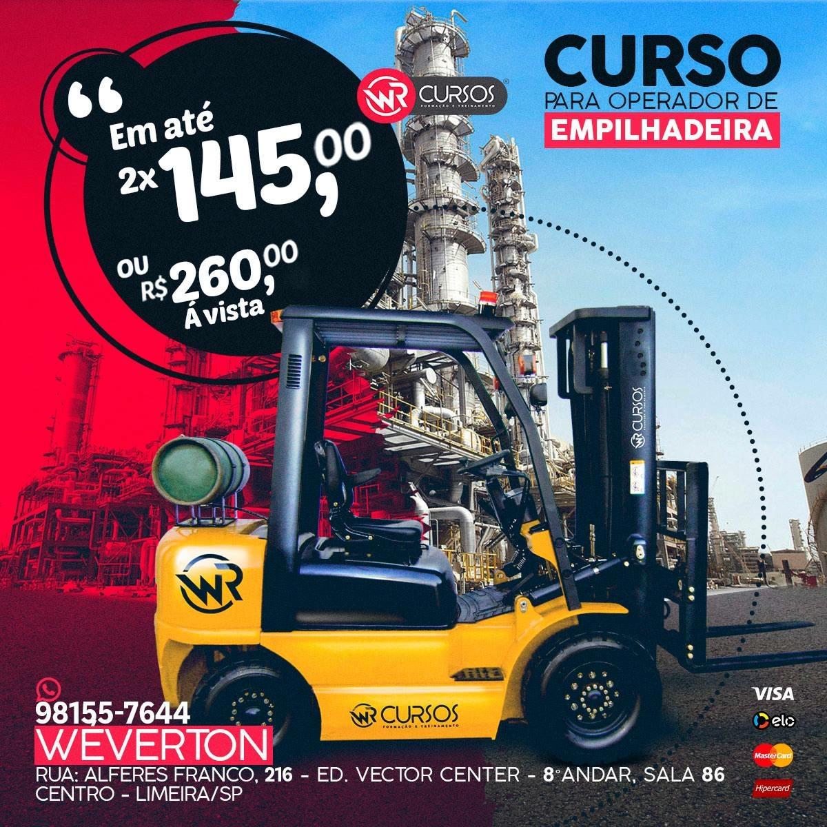 CURSO OPERADOR DE EMPILHADEIRA