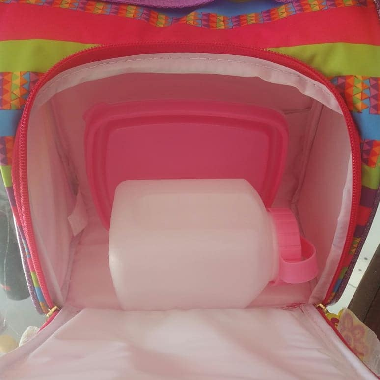Lancheira Térmica de costas feminina infantil