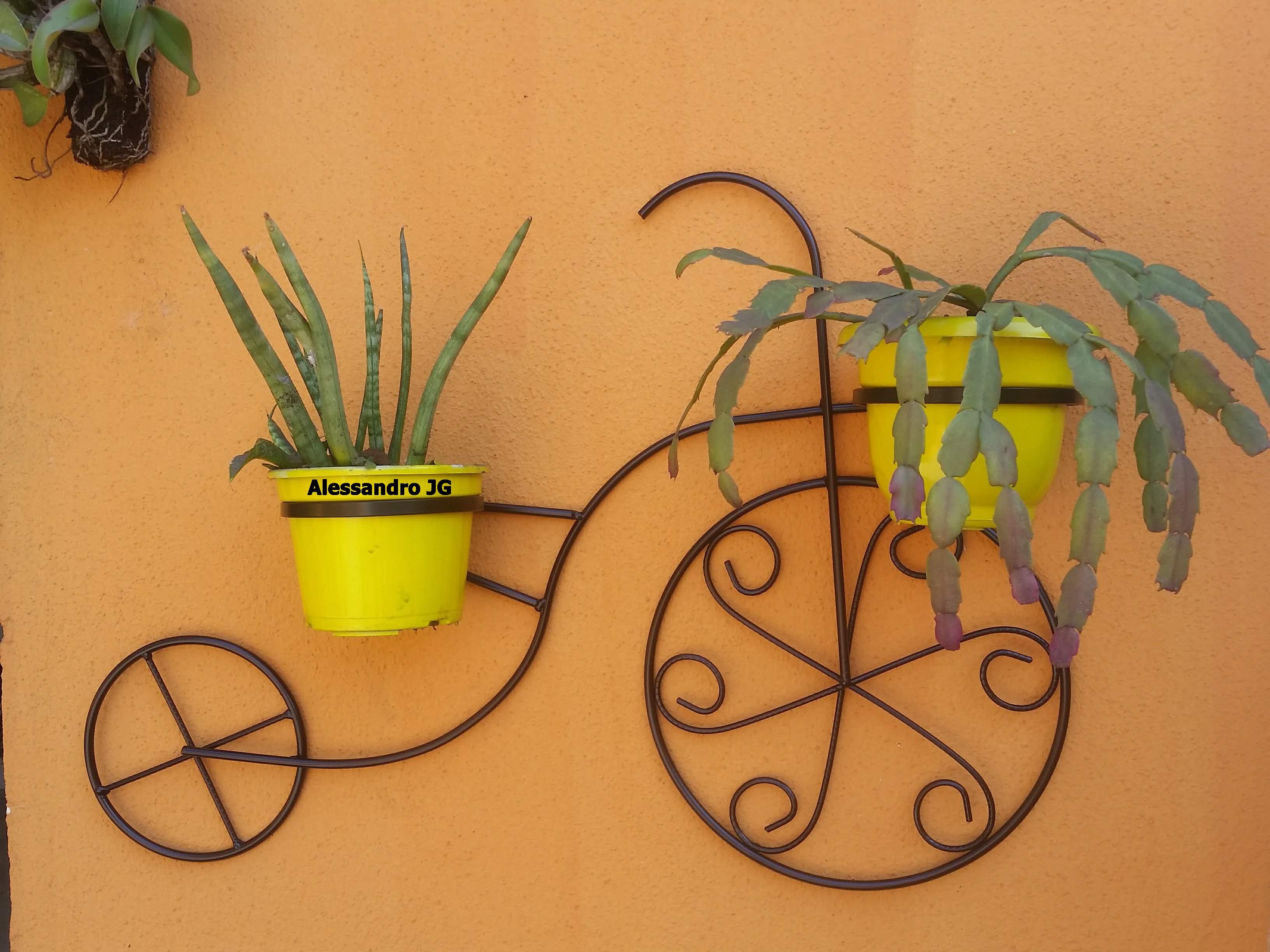 Bicicleta decorativa suporte para plantas
