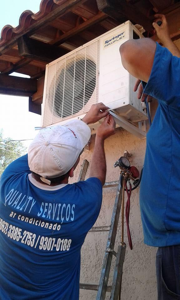 Manutenção e Higienização de ar condicionado SPLIT em promoção na Empresa Quality