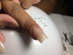Alongamento em fibra de vidro