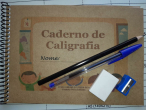 KIT CADERNO DE CALIGRAFIA