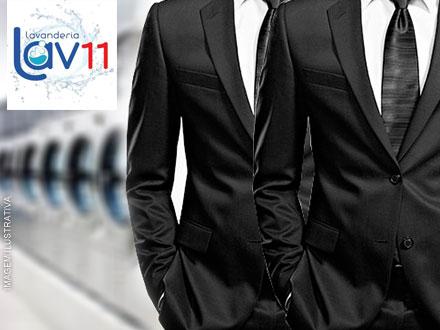 Seu terno como novo! Lavagem de Terno na Lavanderia Lav 11. De R$ 49,00 por R$ 24,50.