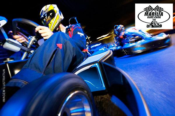 Super promoção de férias Adrenalina a mil! 20 minutos de corrida de kart por apenas R$ 25,99 no Marília Kart Park.